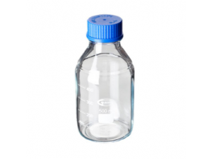 Clear Glass Reagent Bottle