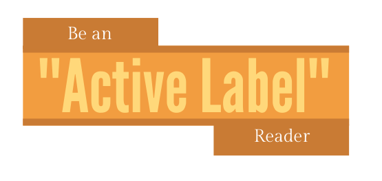 Be an active reader label