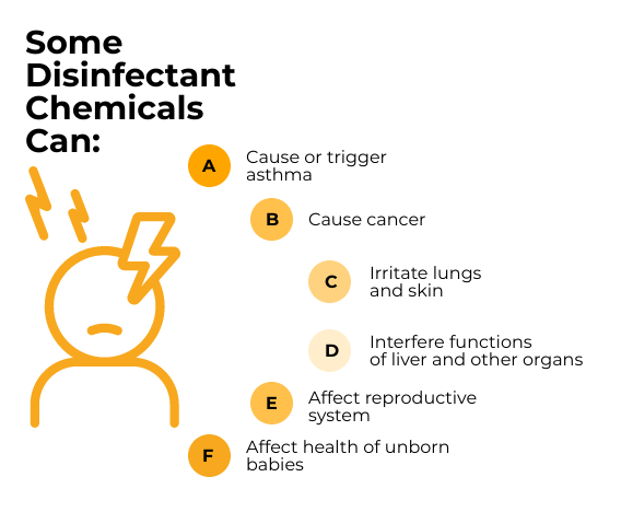 effect of household cleaning chemicals